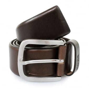 Hugo Boss Dark Brown Leather Belt 50206885