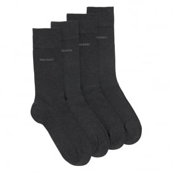 Hugo Boss Double Pack Charcoal Socks 50272214