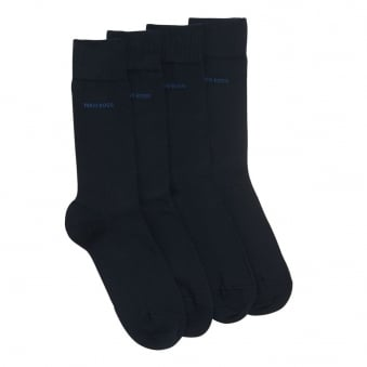 Hugo Boss Double Pack Dark Blue Socks 50272214