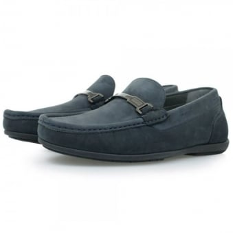 Hugo Boss Flanac Dark Blue Moccasins Shoes 50298114