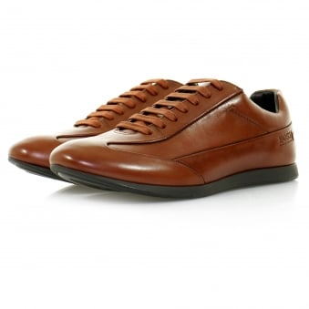 Hugo Boss Fult Medium Brown Leather Shoe 50298112
