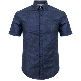 Hugo Boss Green Byagino Navy Shirt 50282855