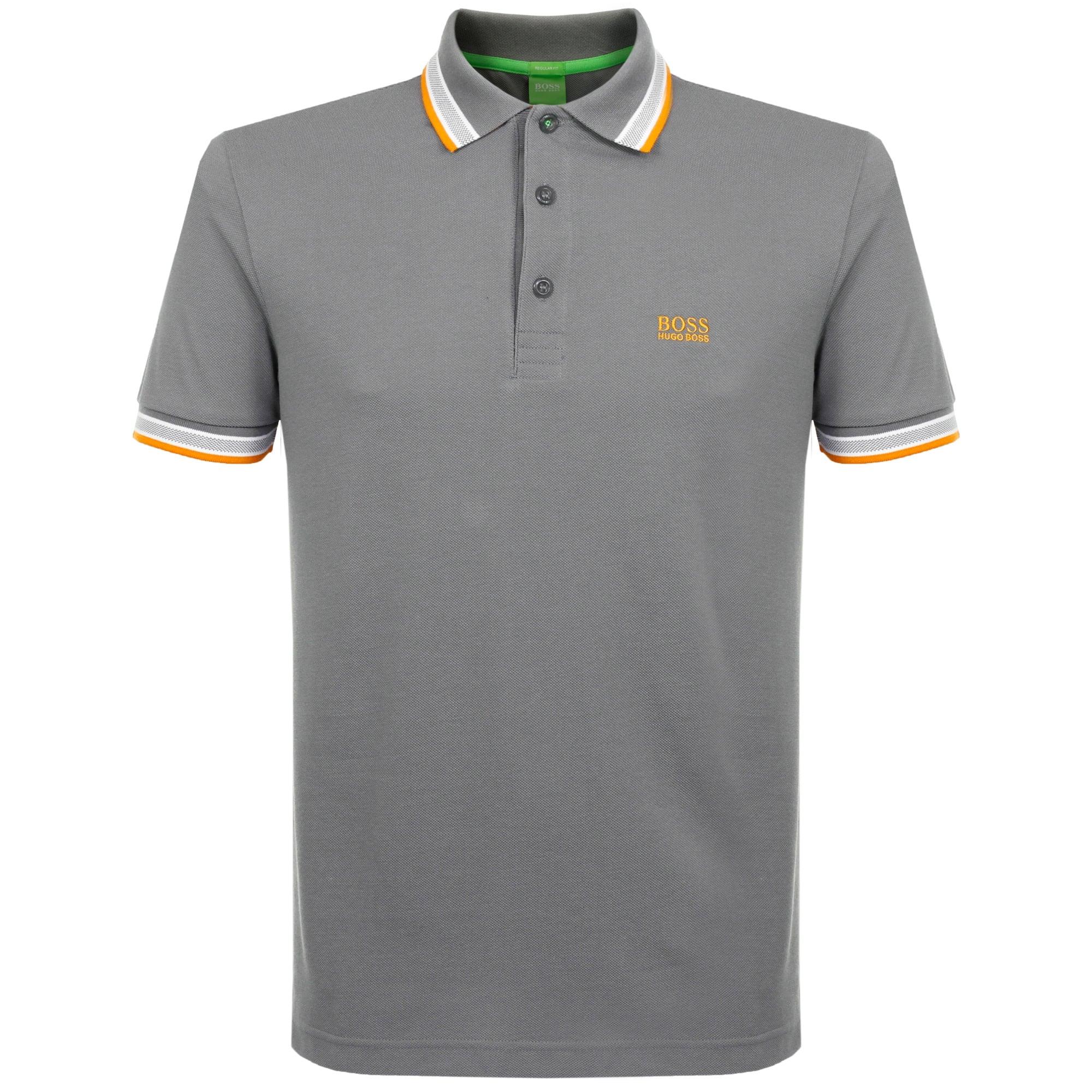 Hugo boss green shop medium grey polo shirt for Hugo boss dress shirt review