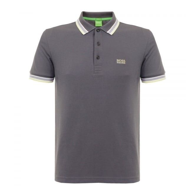Boss Green Hugo Paddy Grey Polo Shirt 501982