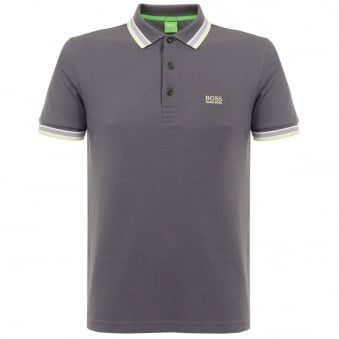 Hugo Boss Green Paddy Grey Polo Shirt 501982