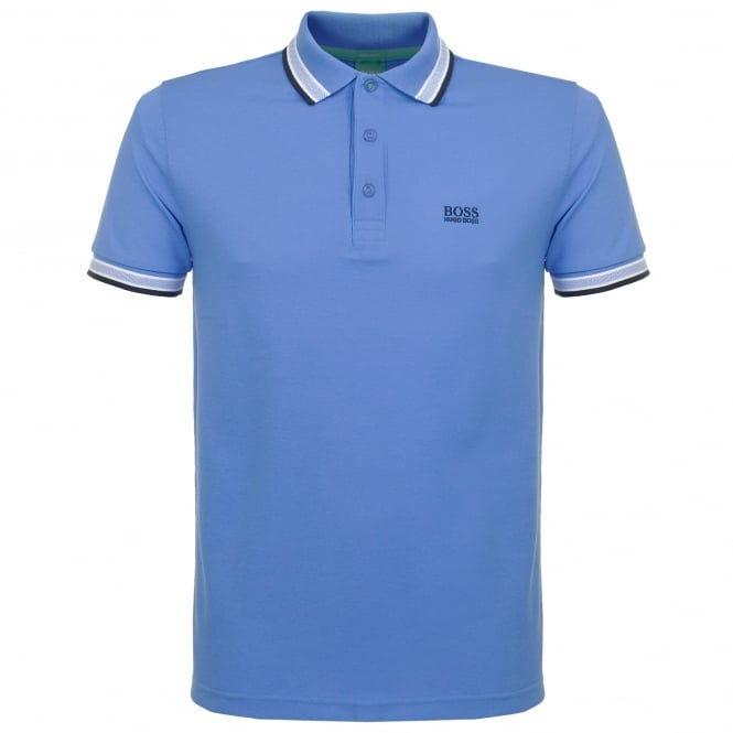 Boss Green Hugo Paddy Mid Blue Polo Shirt 50302557