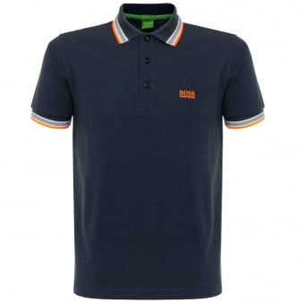 Hugo Boss Green Paddy Open Blue Polo Shirt 50302557