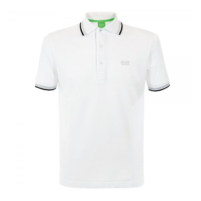Hugo boss green online paddy white polo shirt 50198254 for Hugo boss green polo shirt sale