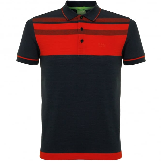 Boss Green Hugo Paule 2 Navy polo Top 50320603