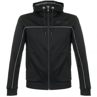 hugo Boss Green Saggy Black Hooded Track Top 50324752