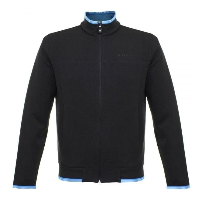 Boss Green Hugo Boss Green Sendri Black Zip Sweatshirt Jacket 50322009