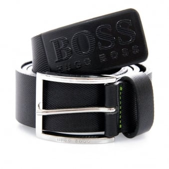 Hugo Boss Green Ticenzo Black Leather Belt 50227524