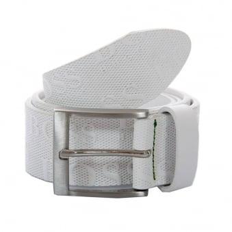 Hugo Boss Green Torialo Cowhide White Belt 50213547