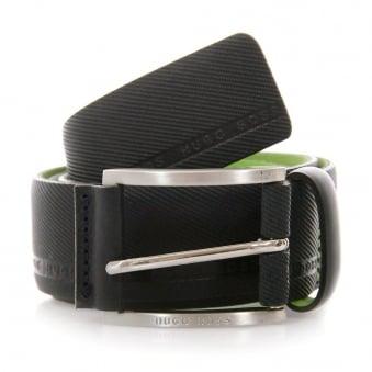 Hugo Boss Green Tymo Cowhide Black Belt 50280785