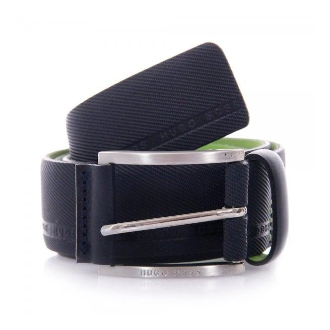 Boss Green Hugo Boss Green Tymo Cowhide Navy Belt 50280785