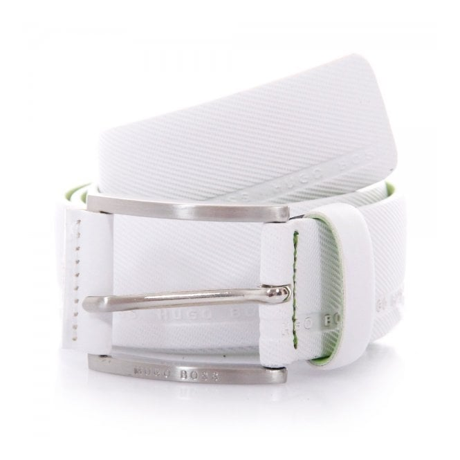 Boss Green Hugo Boss Green Tymo Cowhide White Belt 50280785