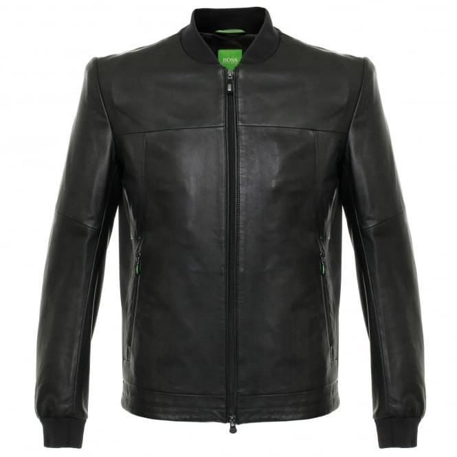 Boss Green Hugo Boss Jolmen Black Leather Jacket 50319994