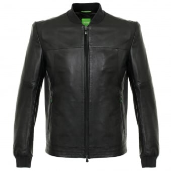 Hugo Boss Jolmen Black Leather Jacket 50319994