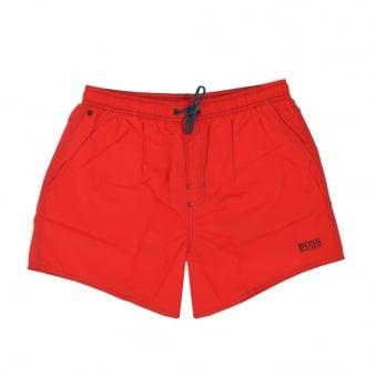 Hugo Boss Lobster Bright Red Swim Shorts 50269486