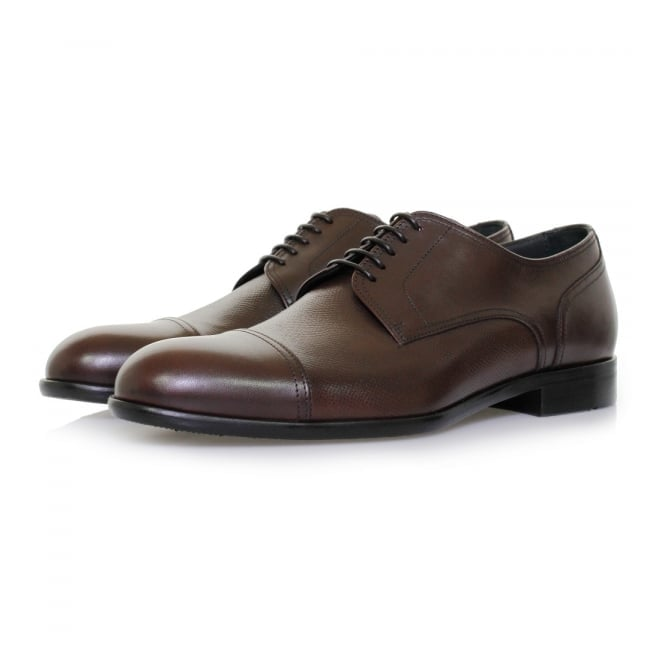BOSS Hugo Boss Hugo Boss Manhattan Derby Leather Dark Red Shoe 50321647