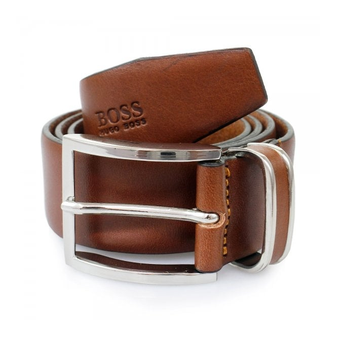 BOSS Hugo Boss Hugo Boss Medium Brown Froppin Leather Belt 50151746 210