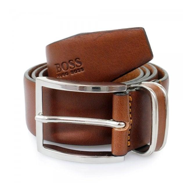 BOSS Hugo Boss Hugo Boss Medium Brown Froppin Leather Belt 50151746 210