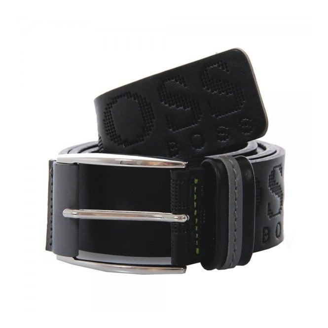 Boss Green Hugo Boss Millow Black Leather Belt 50202917