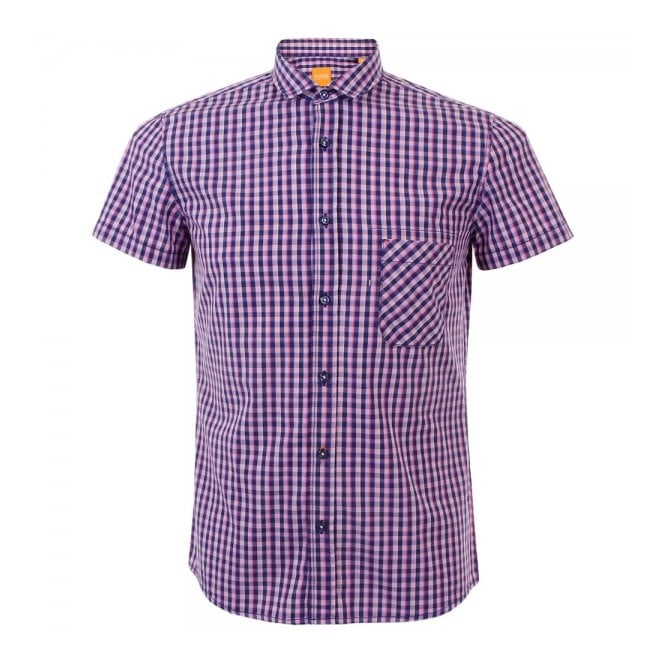 Hugo Boss Orange Ezippoe 1 Bright Purple Shirt 50282693