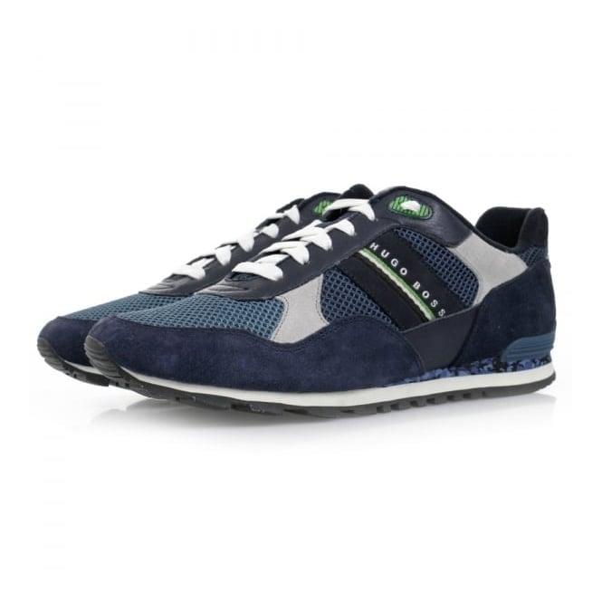 Boss Green Hugo Boss Runcool Camo Medium Blue Shoes 50311636