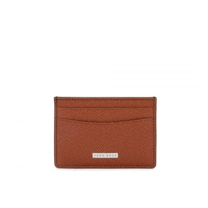 BOSS Hugo Boss Hugo Boss Signature_S Light Brown Leather Card Case 50311746