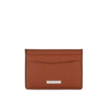 Hugo Boss Signature_S Light Brown Leather Card Case 50311746