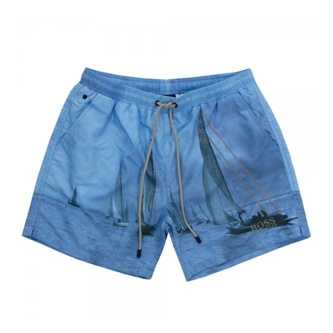 f78ca0aa86f2d Hugo Boss Clothing | Springfish Open Blue Swim Shorts