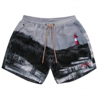 Hugo Boss Springfish Open Grey Swim Shorts 50286810