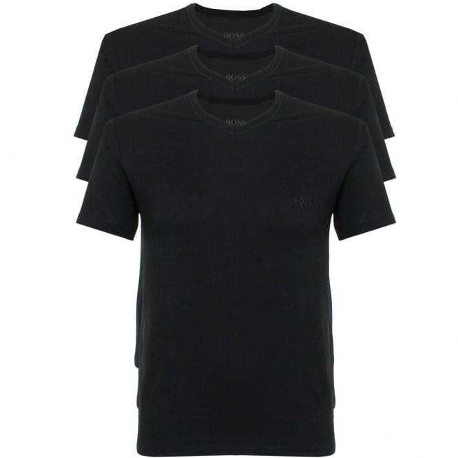 BOSS Hugo Boss Hugo Boss Triple Pack V-neck Black T-Shirt 50325389