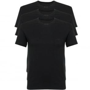 Hugo Boss Triple Pack V-neck Black T-Shirt 50325389