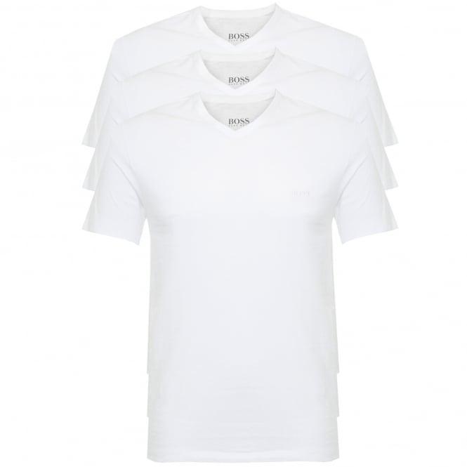 BOSS Hugo Boss Hugo Boss Triple Pack V-neck White T-Shirt 50325389