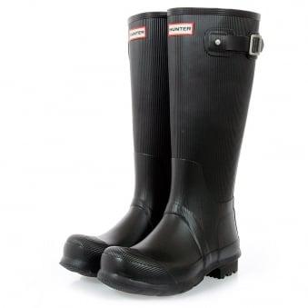Hunter Original Ribbed Leg Wellington Boots MFT9000RRL