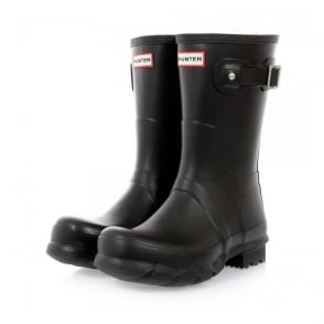 Hunter Original Short Black Wellington  Boot MFS9000RMA