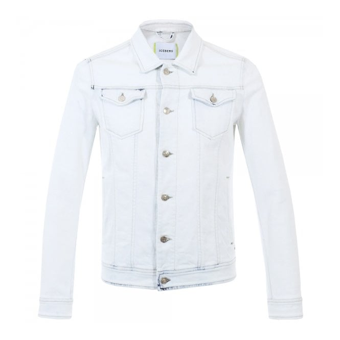 Iceberg Clothing Iceberg Bleached White Denim Jacket 8670