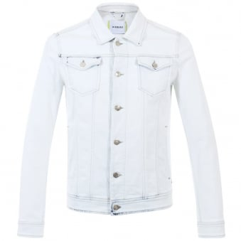 Iceberg Bleached White Denim Jacket 8670