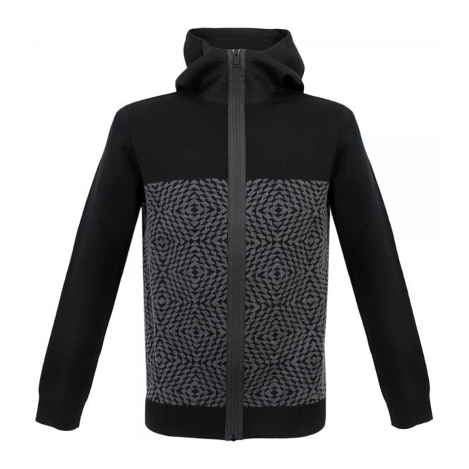 Iceberg Clothing Iceberg Hooded Black Jacket AO047304