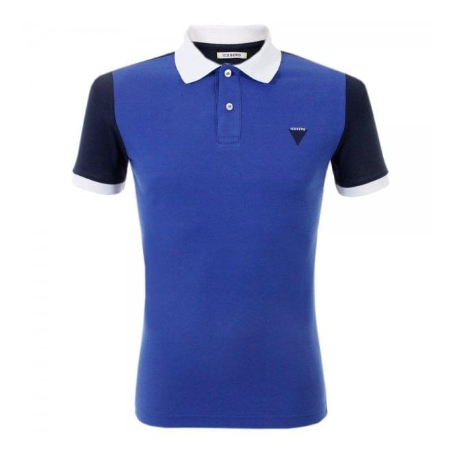 Iceberg Clothing Iceberg L5 Blue Polo Shirt P6308