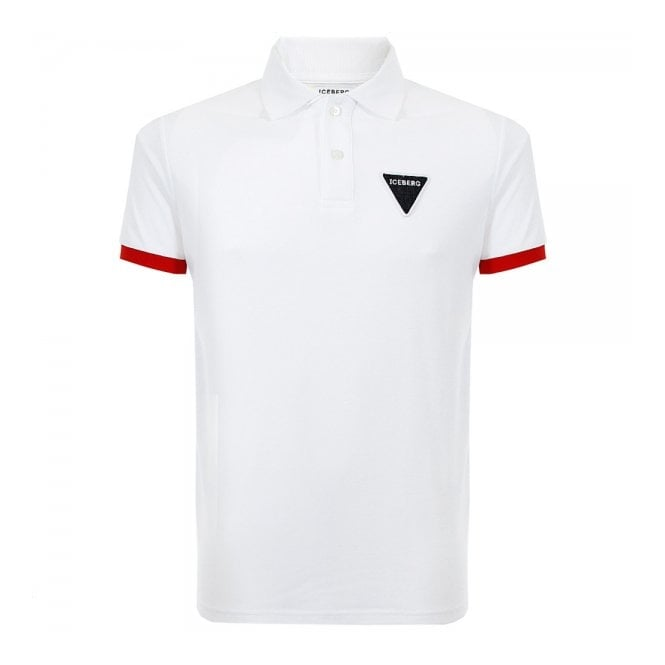 Iceberg Clothing Iceberg L5 White Pique Polo Shirt 63261