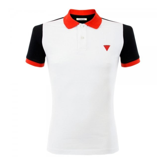 Iceberg Clothing Iceberg L5 White Polo Shirt P5201