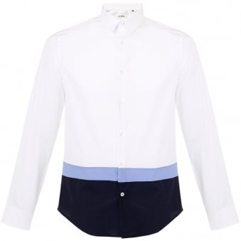 Iceberg White Blue Shirt  G0900696