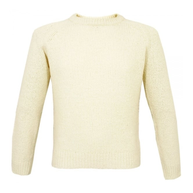 J Lindeberg J Lindeberg York Wave Yarn Off White Jumper 37MC730097311