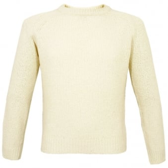 J Lindeberg York Wave Yarn Off White Jumper 37MC730097311