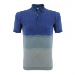 John Smedley Tiller Indigo Polo Shirt 06