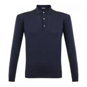 John Smedley Tyburn Midnight LS Polo Shirt 028