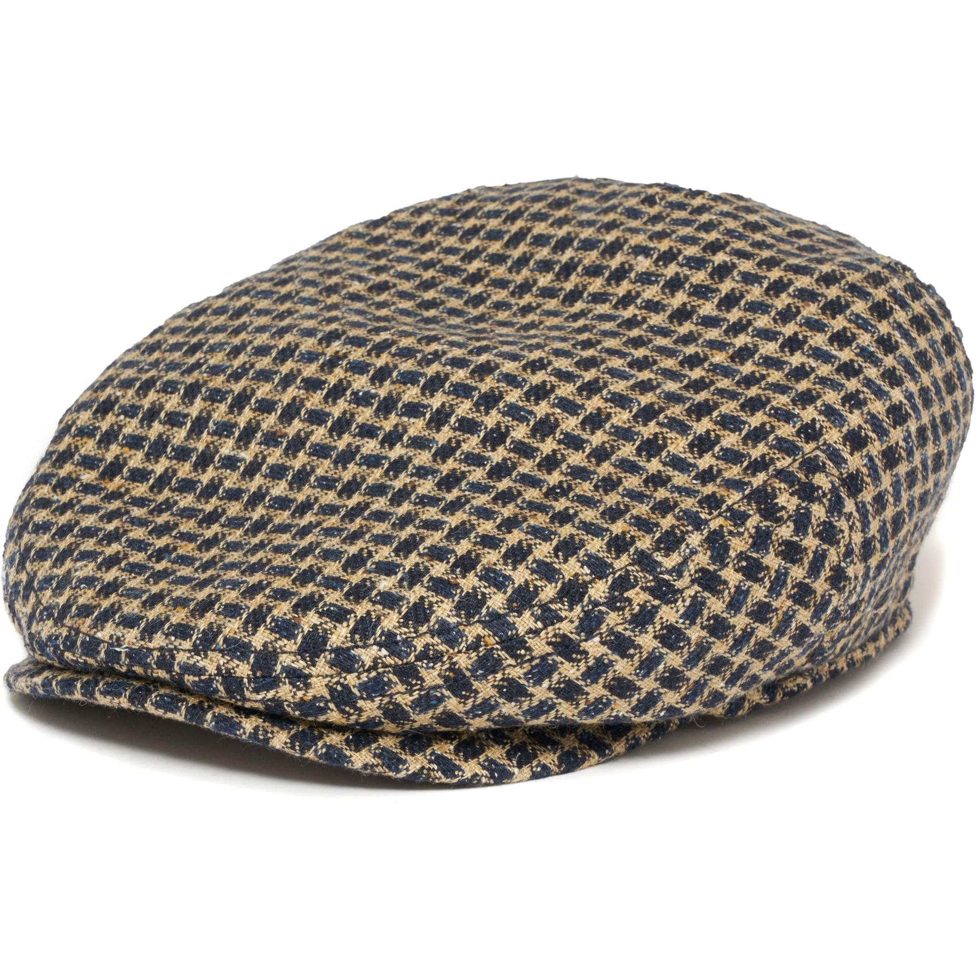 cc4030a2a20 Stetson Houndstooth Linen Flat Cap 49877